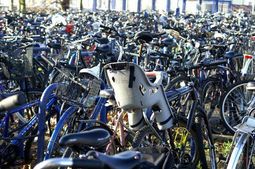 Bicicletas en la estación de tren de Oxford