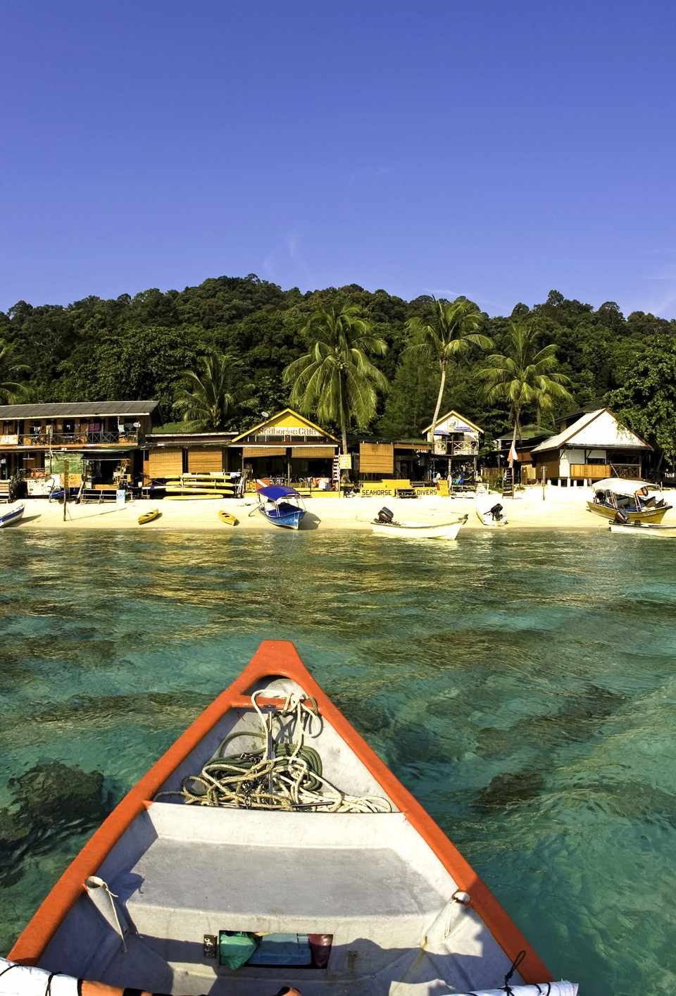 The beach at Perhentian Besar, a top destinations in Malaysia
