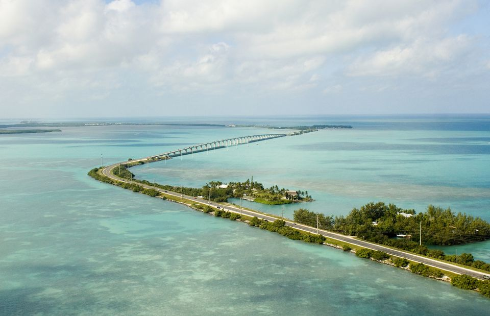 Florida Keys, Channel Five Bridge, aerial view