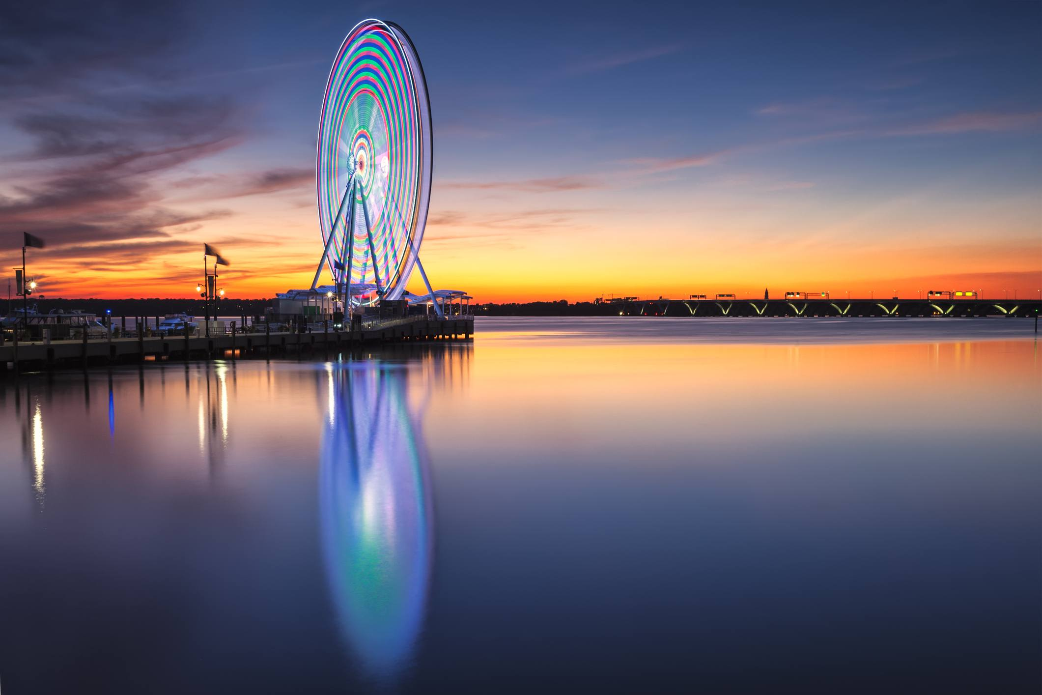 Ferris wheel on the Potomac at National Harbor