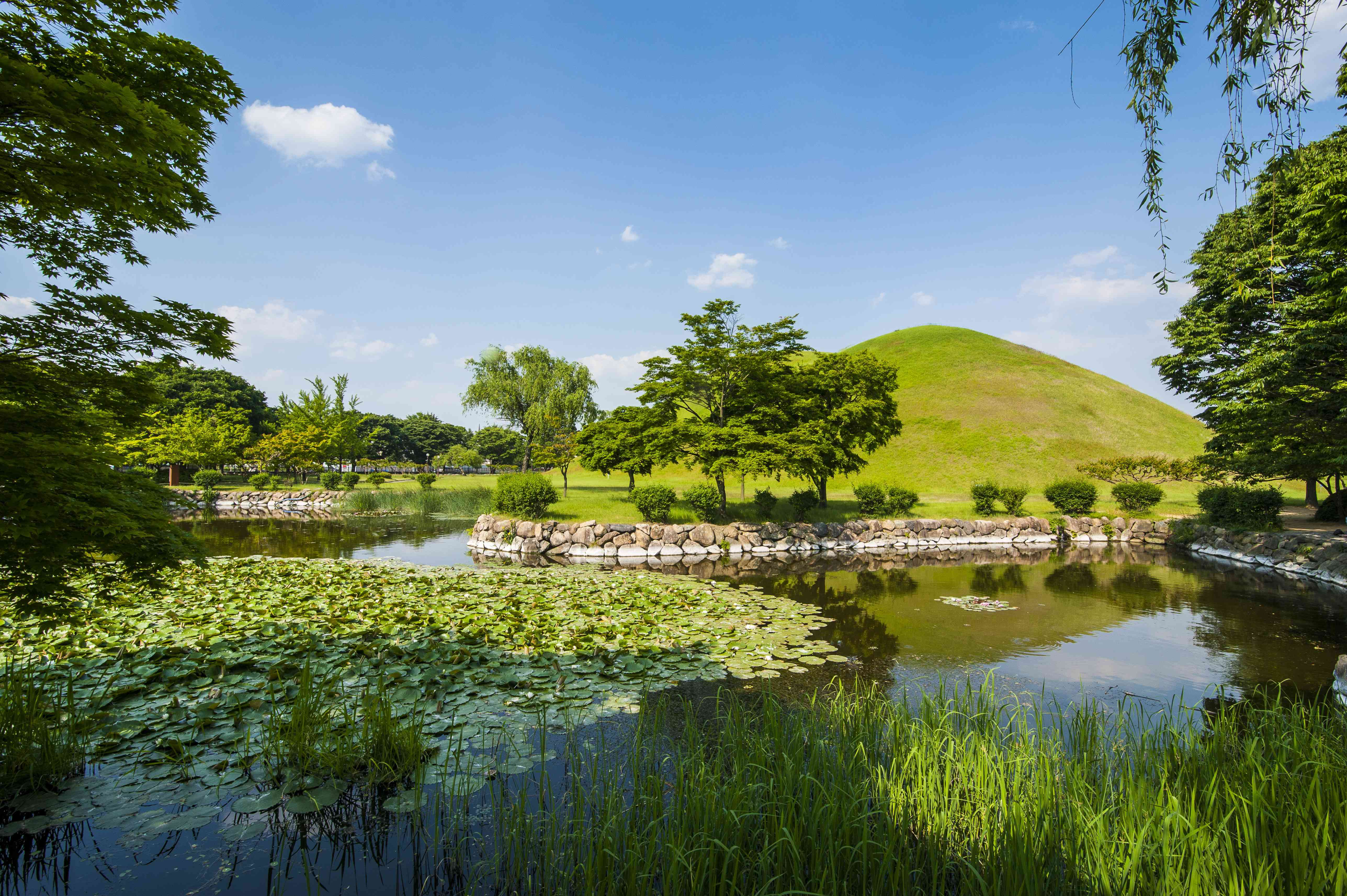 Tumuli park with its tombs from the Shilla monarchs, Gyeongju