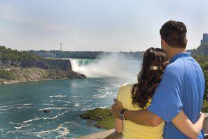Couple Watching the Falls, Niagara Falls