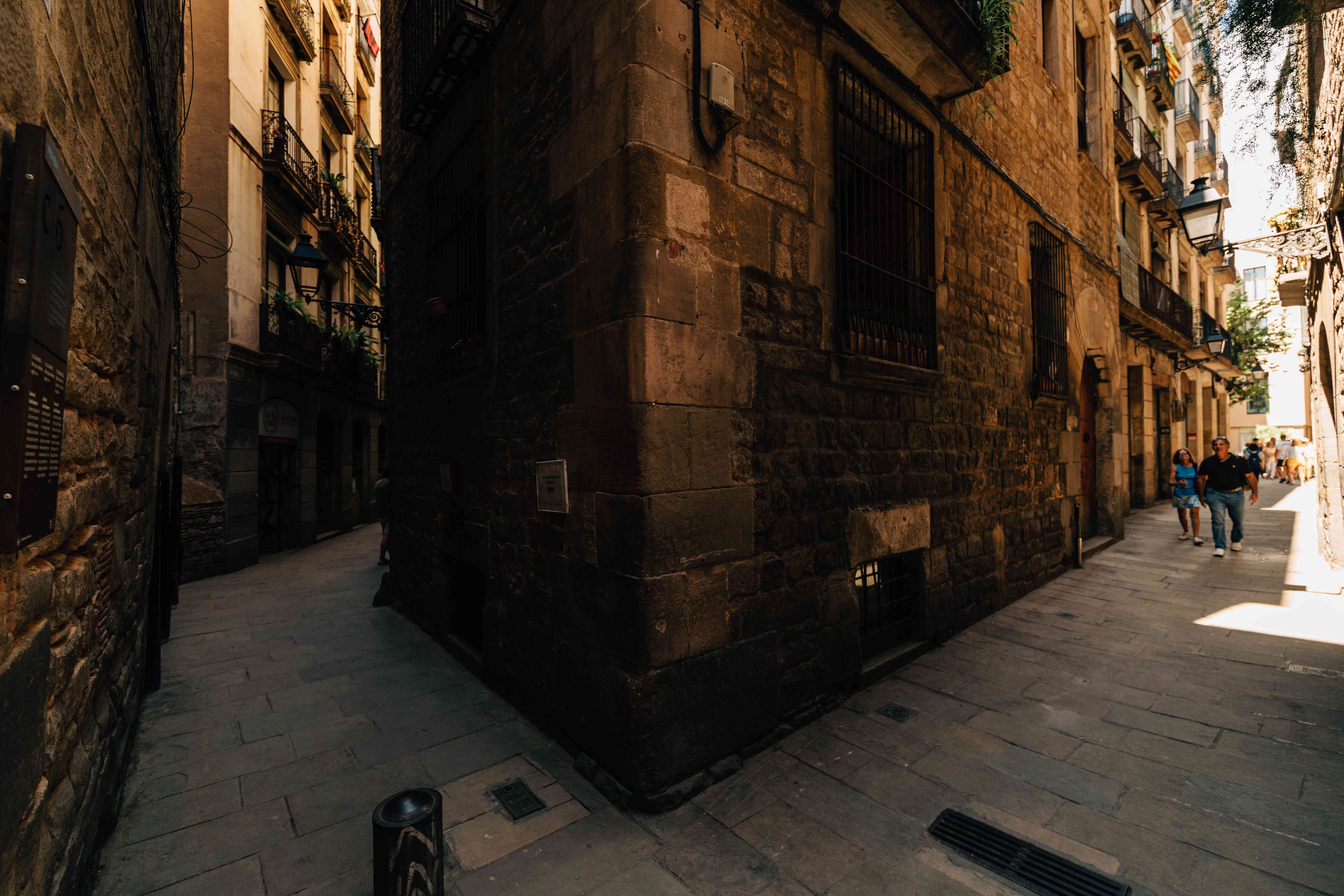 Alleyways in Barcelona
