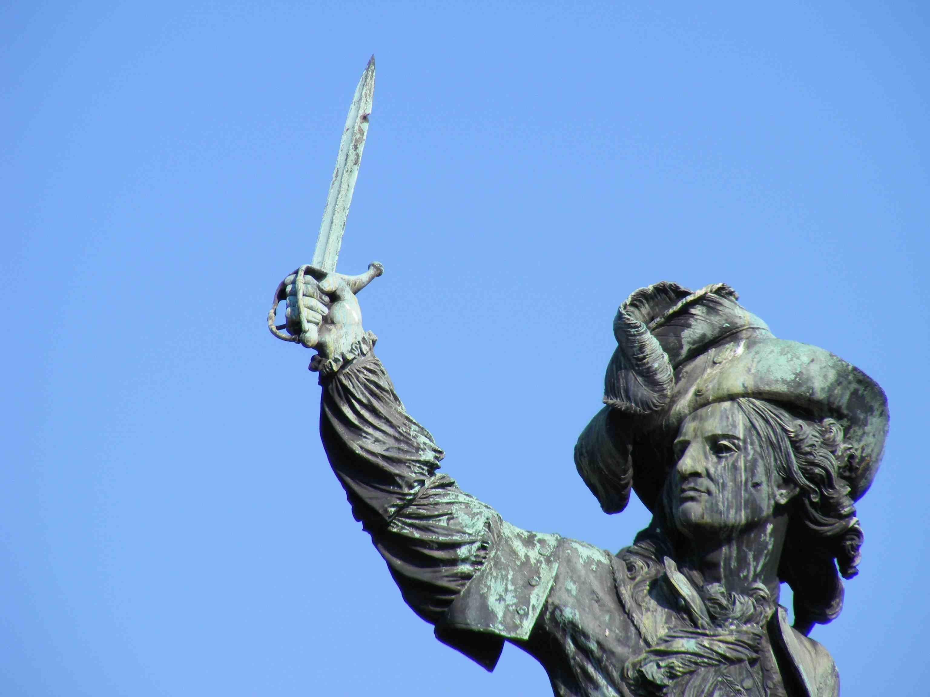 Jean Bart statue in Dunkirk