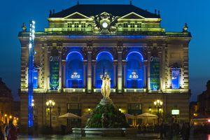 Place de la Comedie, Montpellier at night