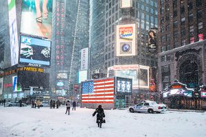 Snowstorm in New York