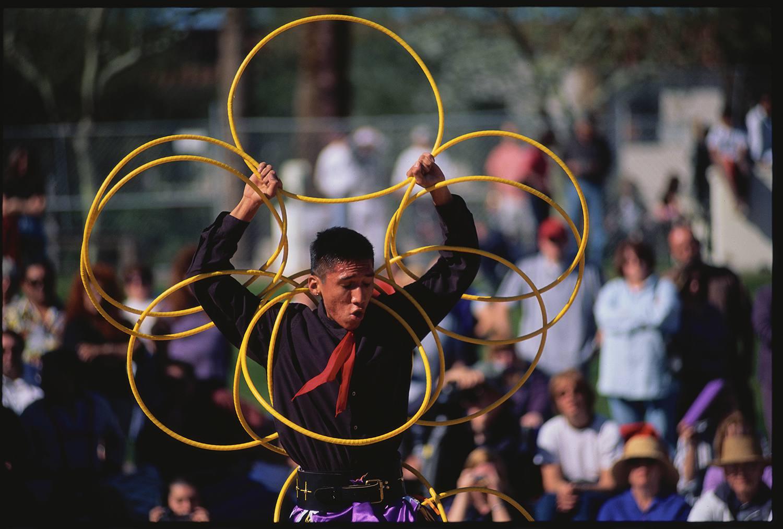 Hoop Dancer Performing
