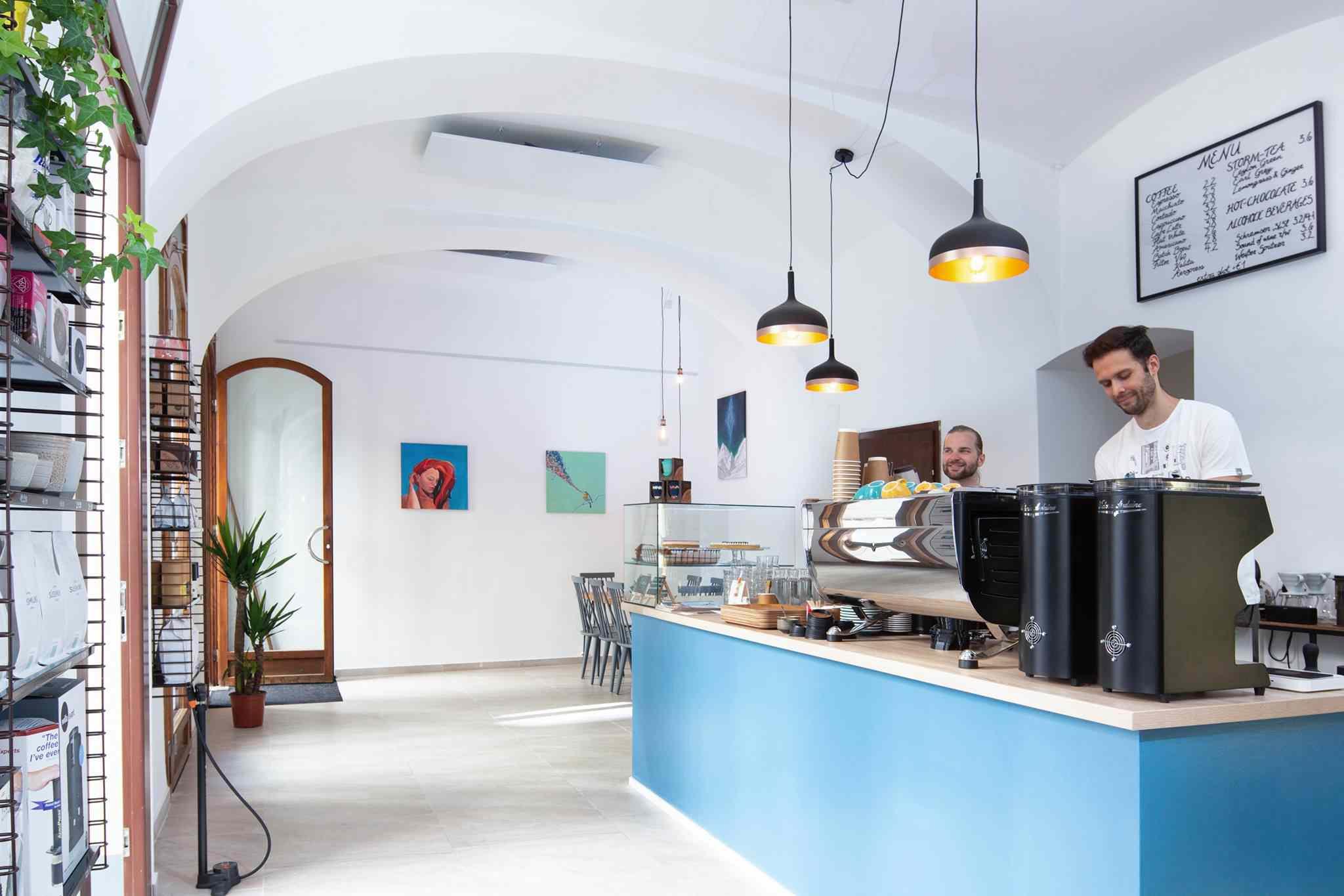 Inside the Pelican Coffee Company, Vienna