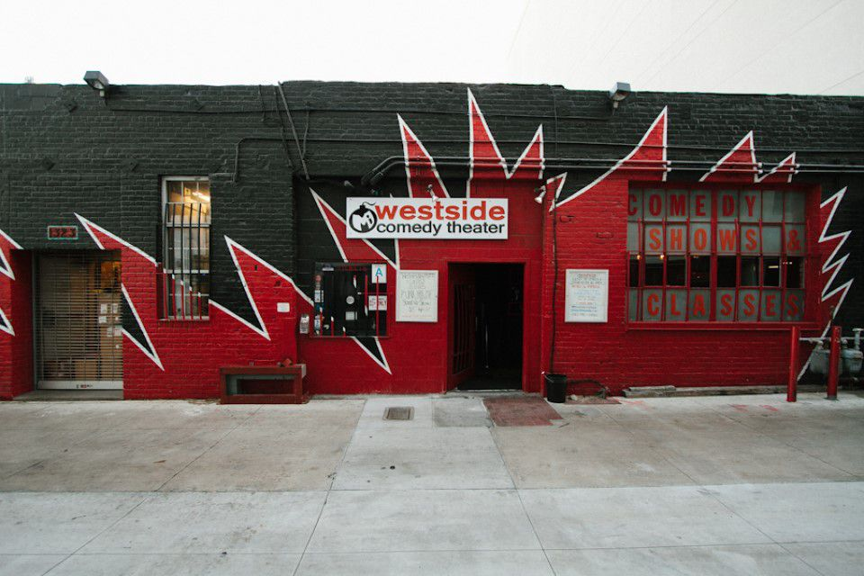 Exterior of Westside Comedy Theater
