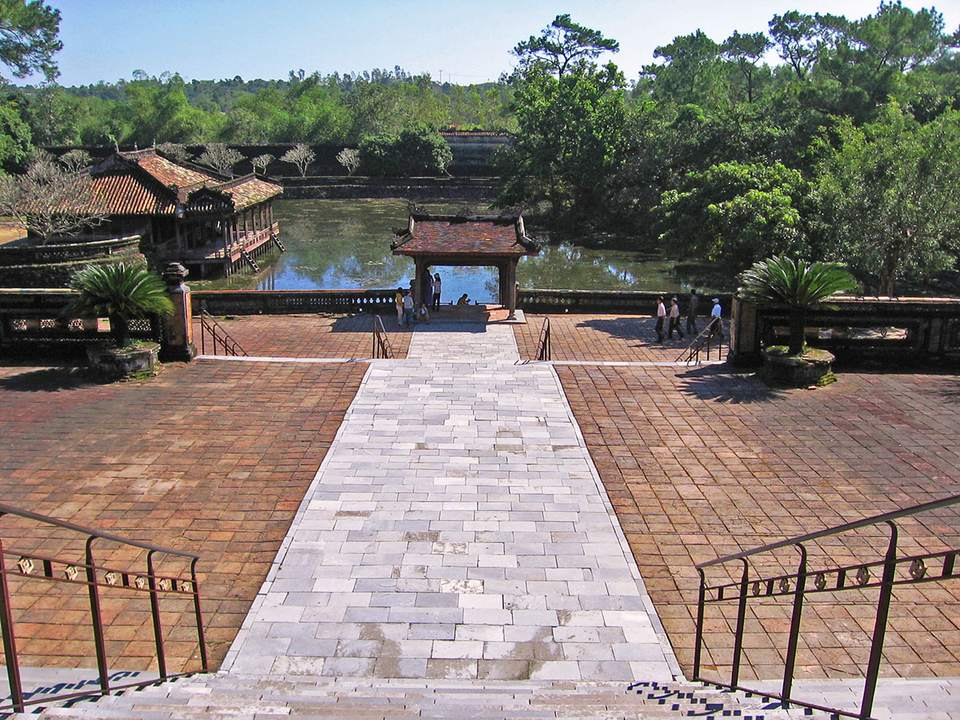 Pond at Tu Duc's Royal Tomb, Hue, Vietnam