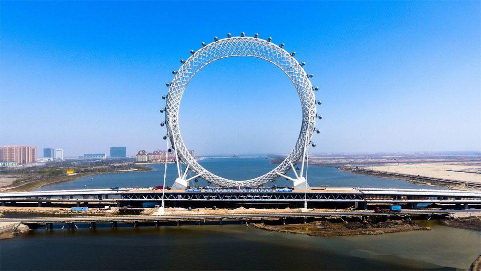 Bailang River Bridge Ferris Wheel