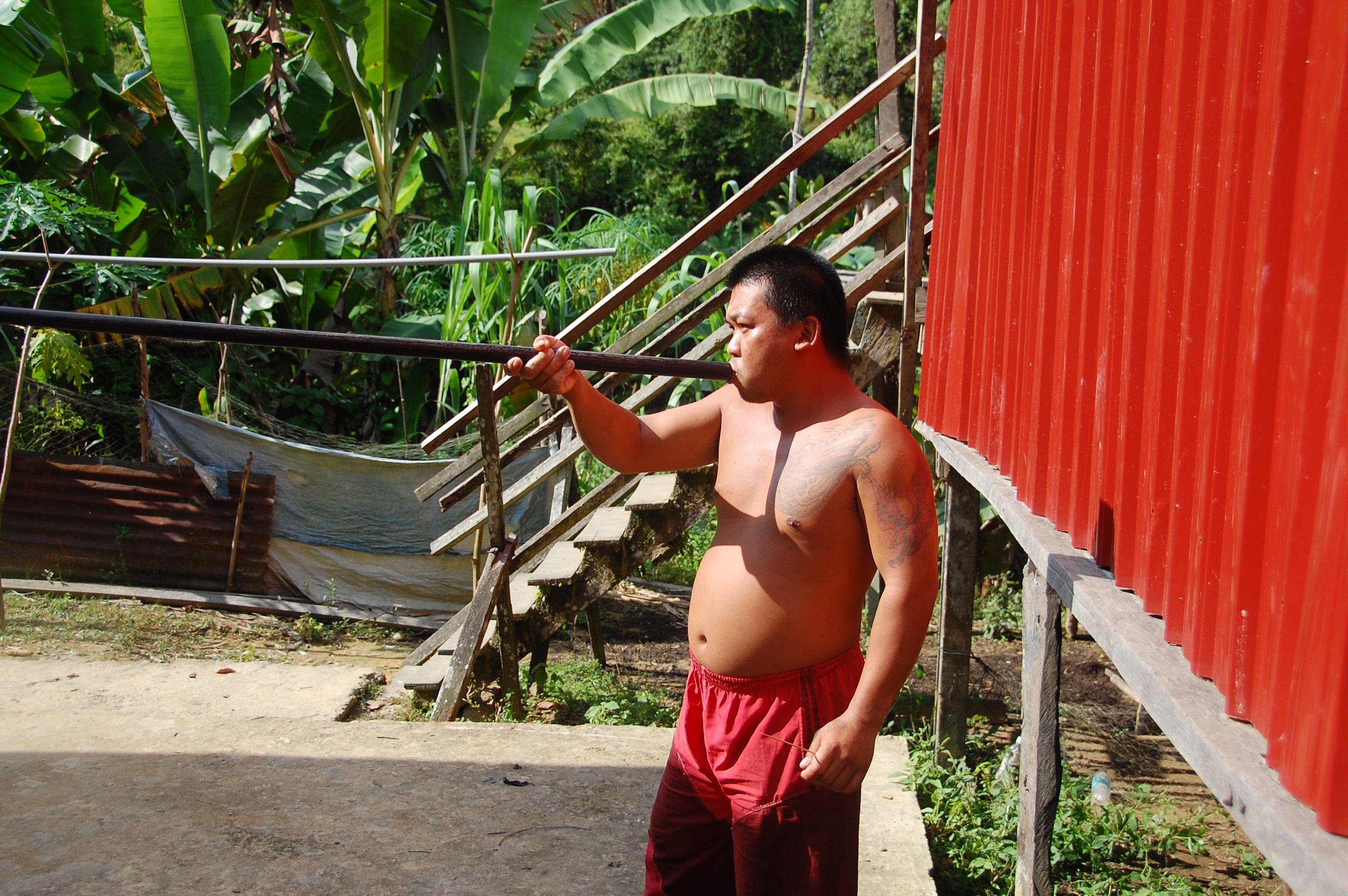 Sarawak Longhouse Stay Blowgun