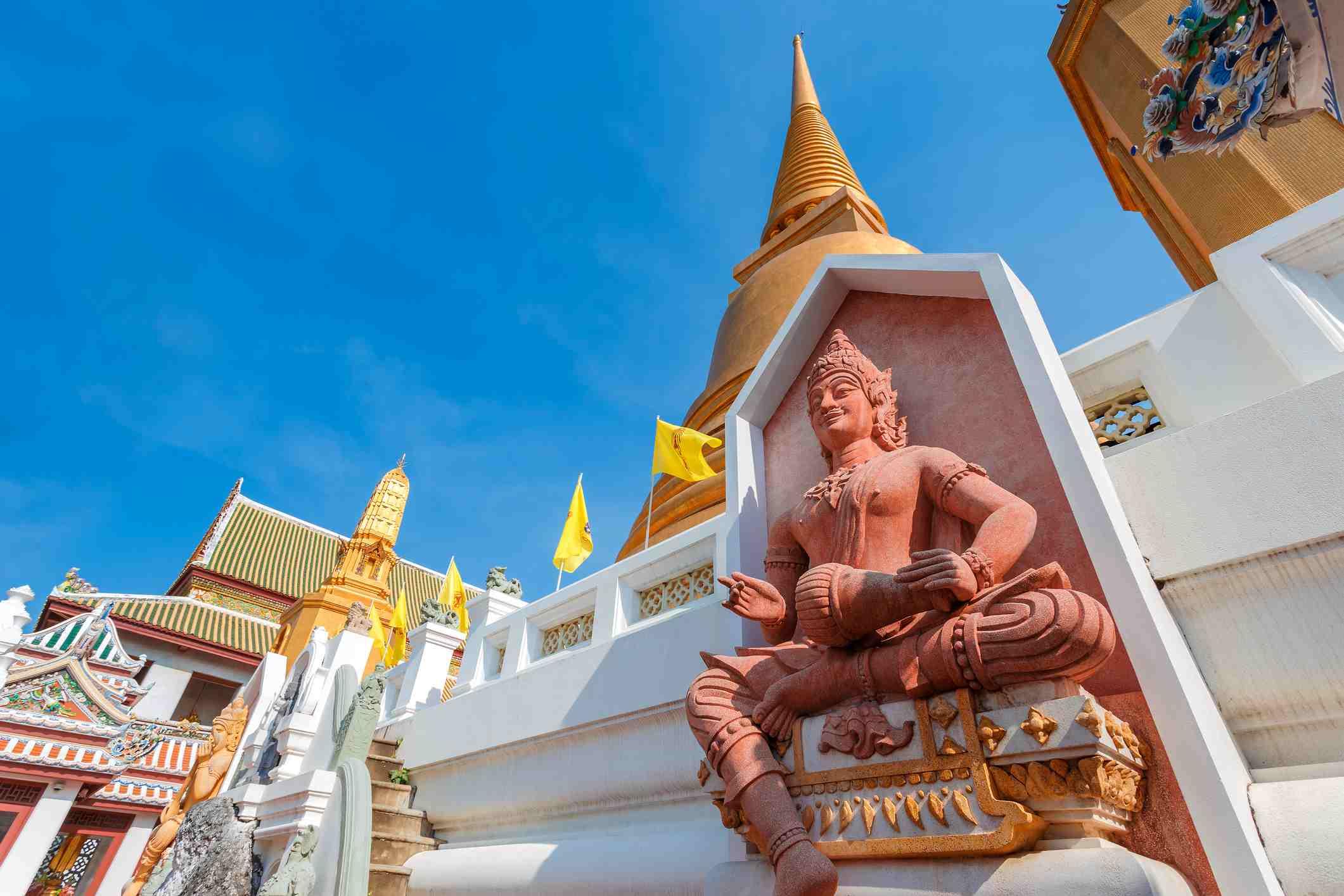 God of Music at Wat Bovorn (Bowon) Nivet Viharn in Bangkok, Thailand