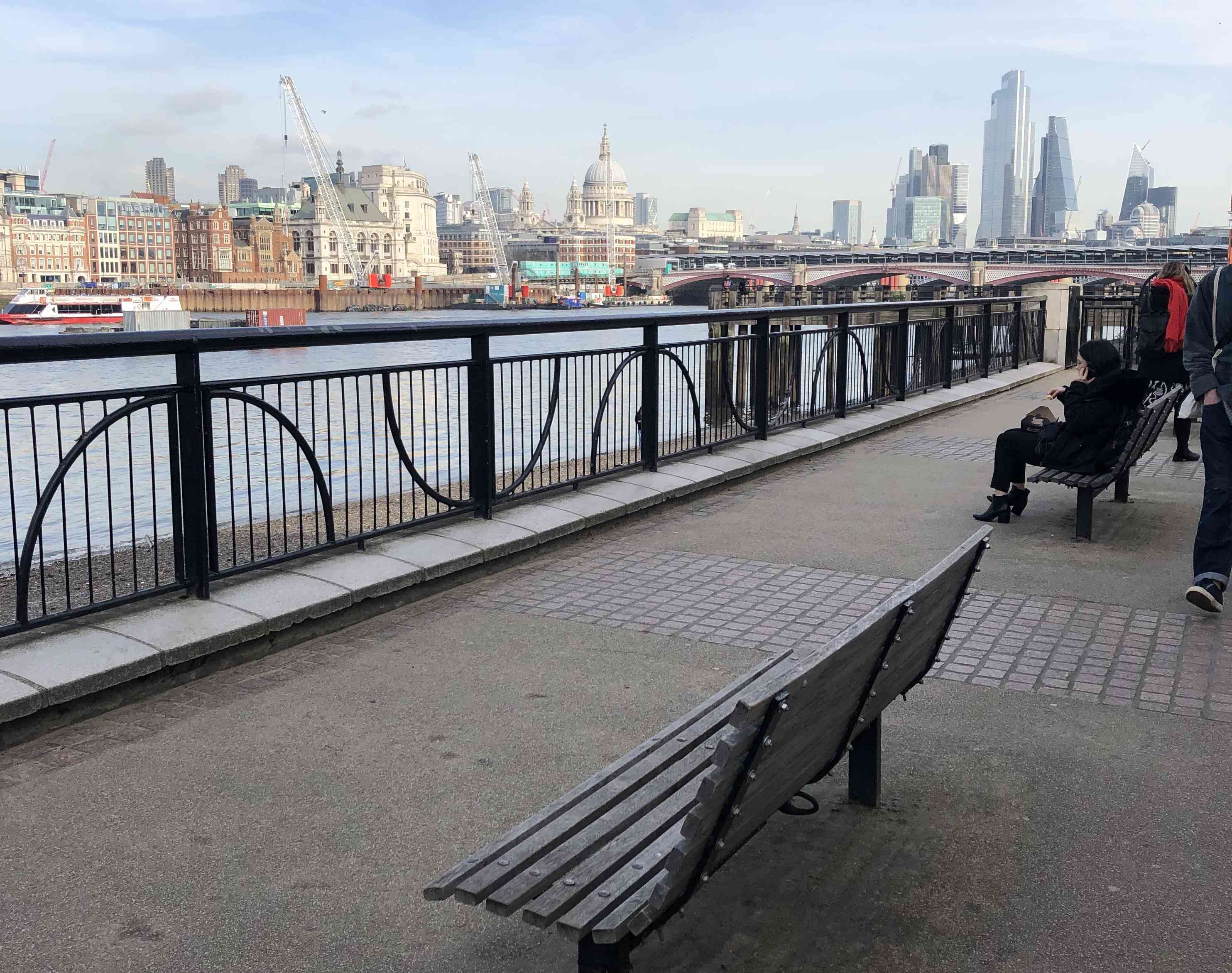 Love, Actually bench in Southbank, London