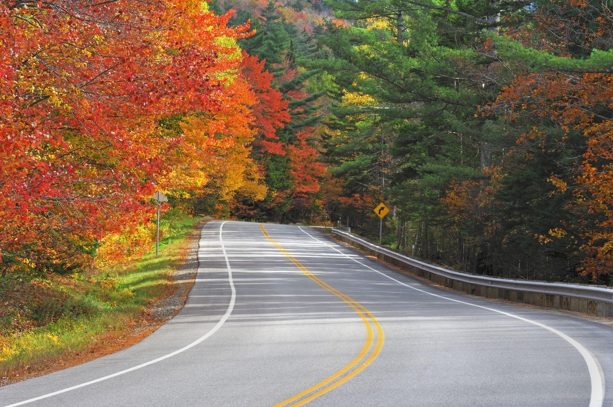 Kancamagus Highway en otoño, White Mountain National Forest, New Hampshire