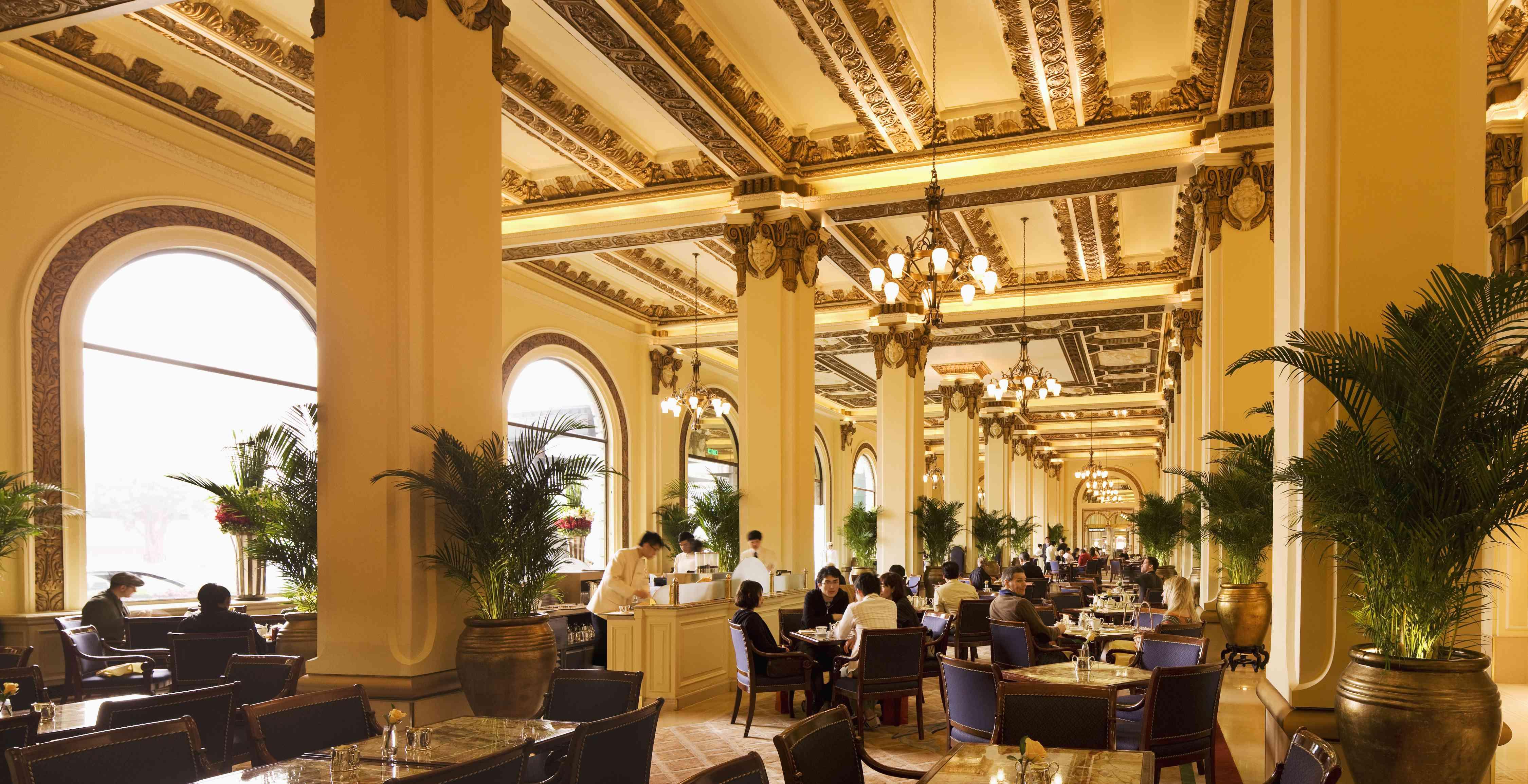 Interior of The Peninsula hotel Hong Kong