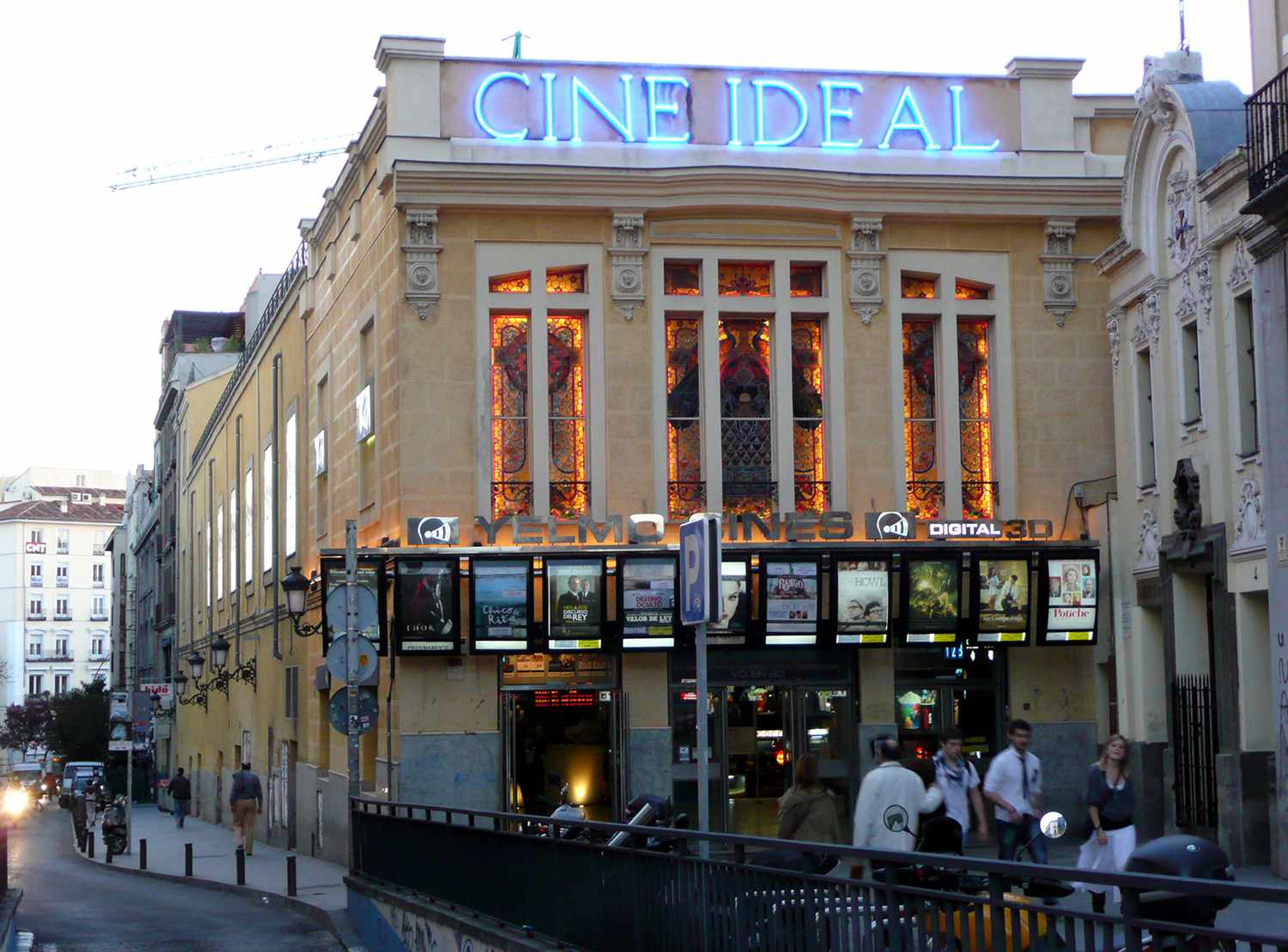 Exterior view of Cine Ideal in Madrid