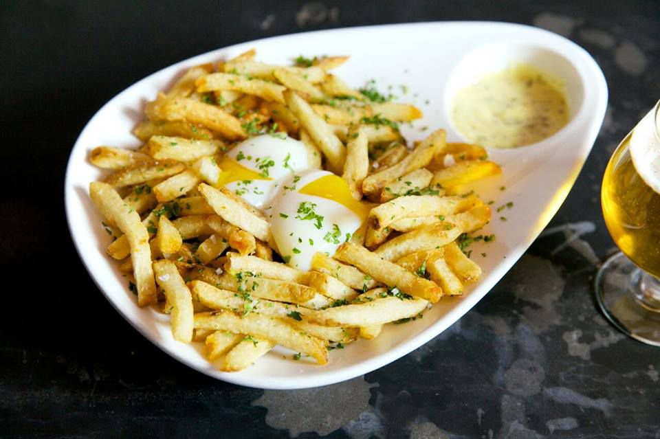 The french fries at the Salty Sow