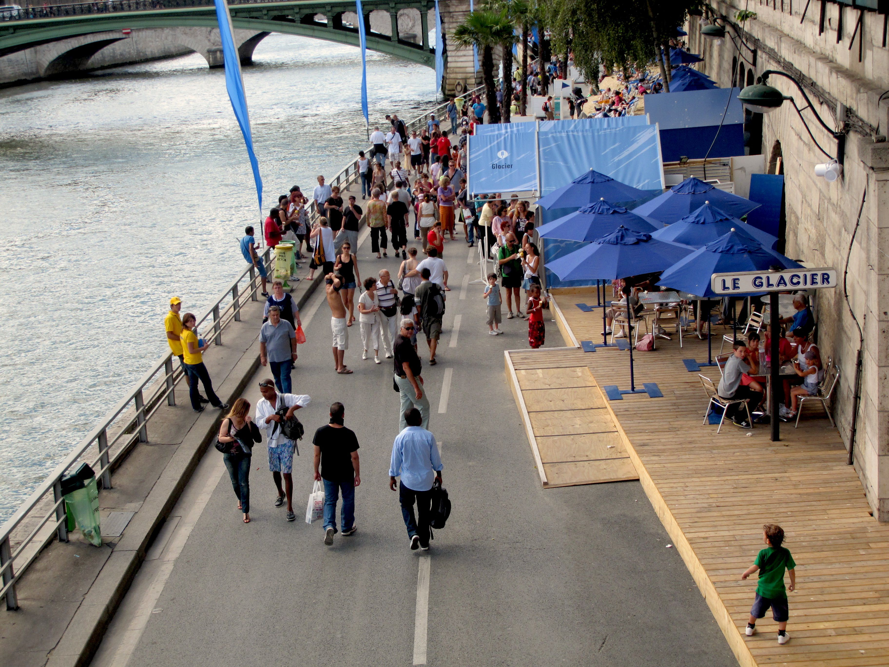 Paris Plages is a popular summer event in the French capital.