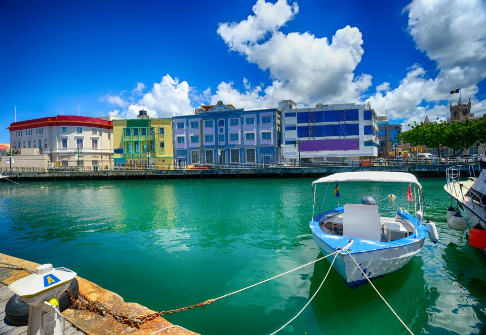 Marina in Bridgetown, Barbados in the Caribbean.
