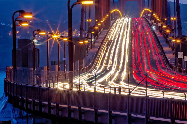 Golden Gate Bridge Traffic from the North Vista Point