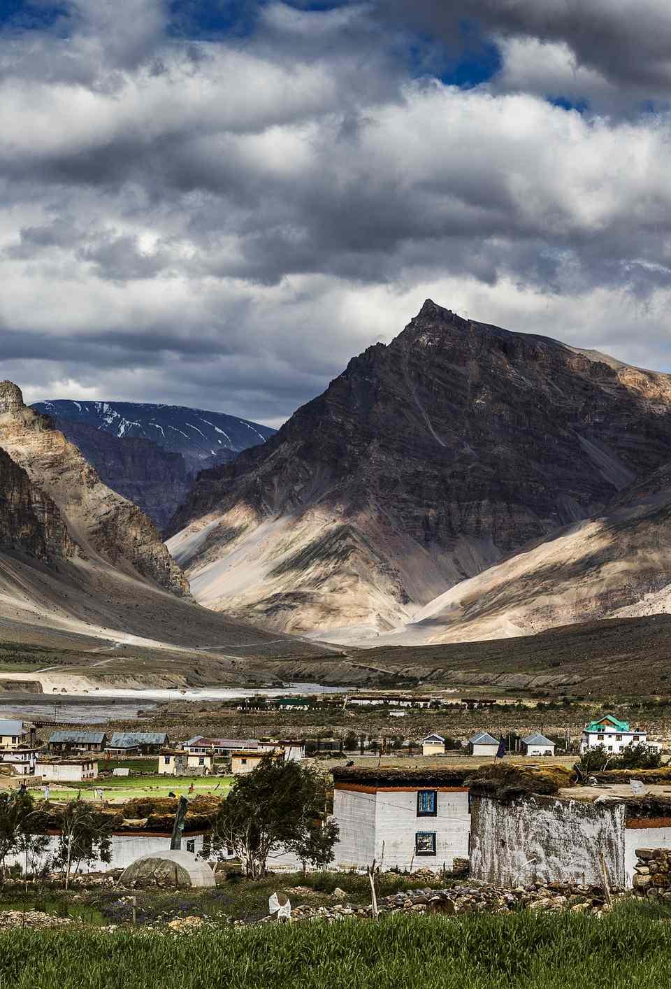 Losar village in Spiti