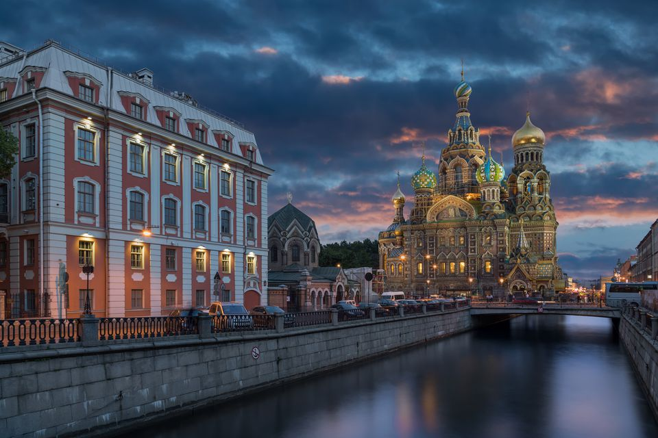 St. Petersburg, Russia, at dusk