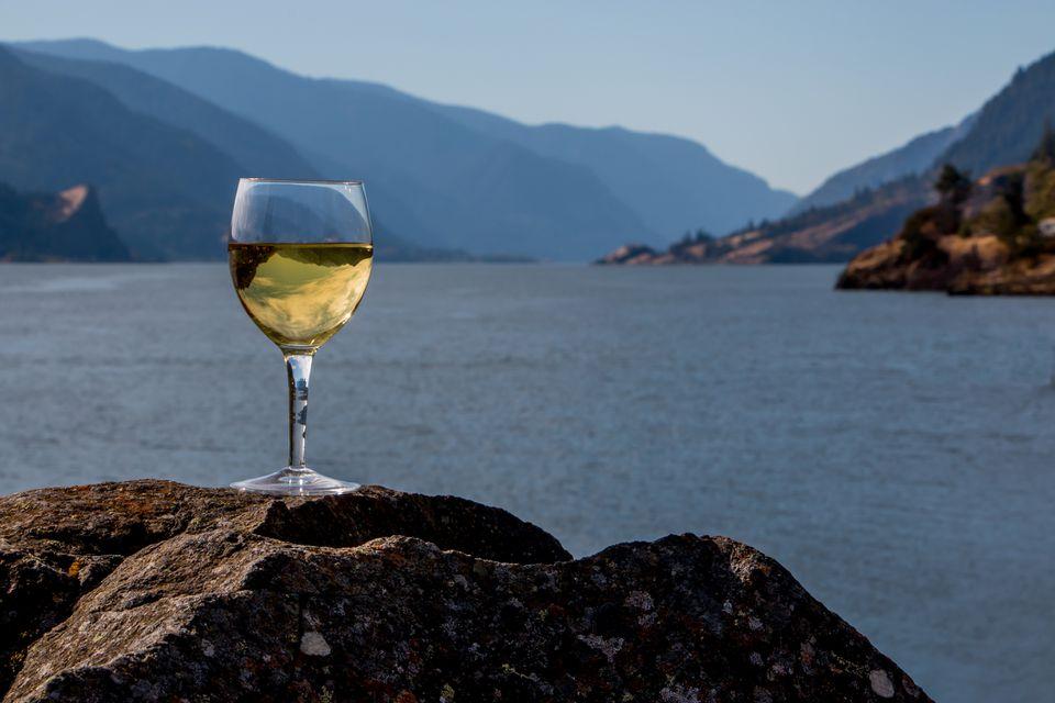 Wine Glass Inverted Columbia River Gorge Cascade Mountains Washington Oregon