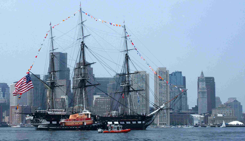 U.S. Coast Guard Escorts 'Old Iron Sides'