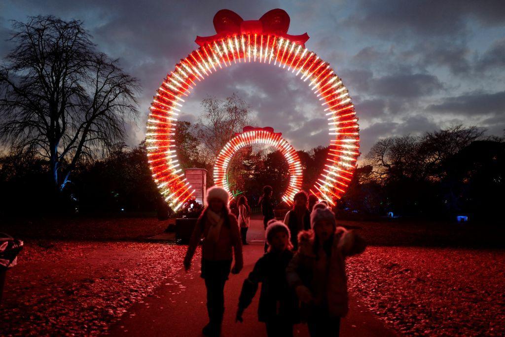 Kew Gardens holiday lights
