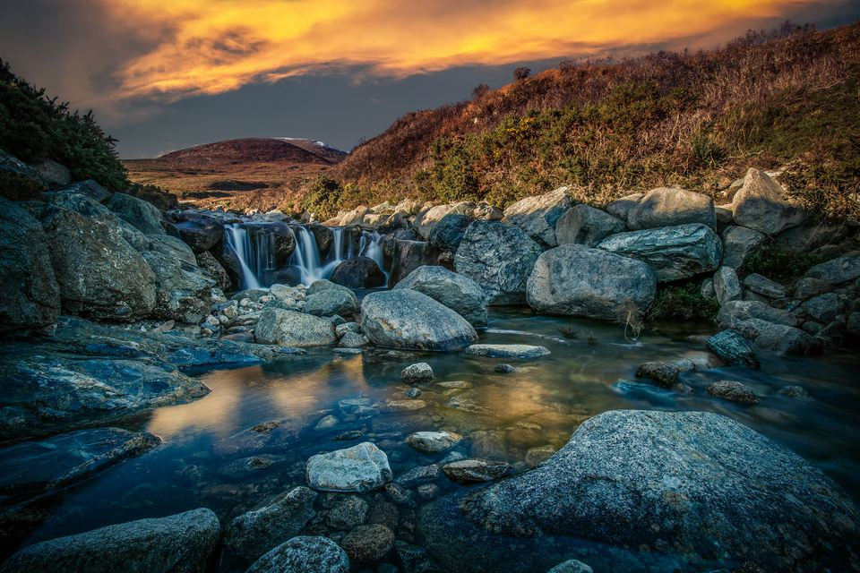 waterfall on Slieve Donard Northern Ireland