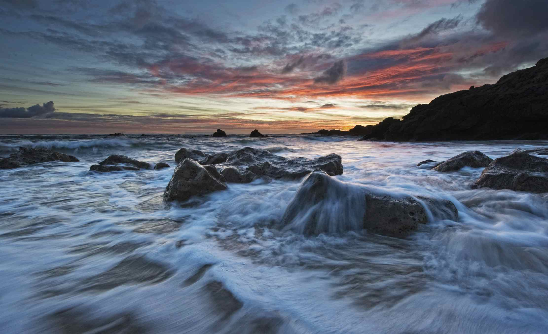 Sunset at Leo Carrillo Beach