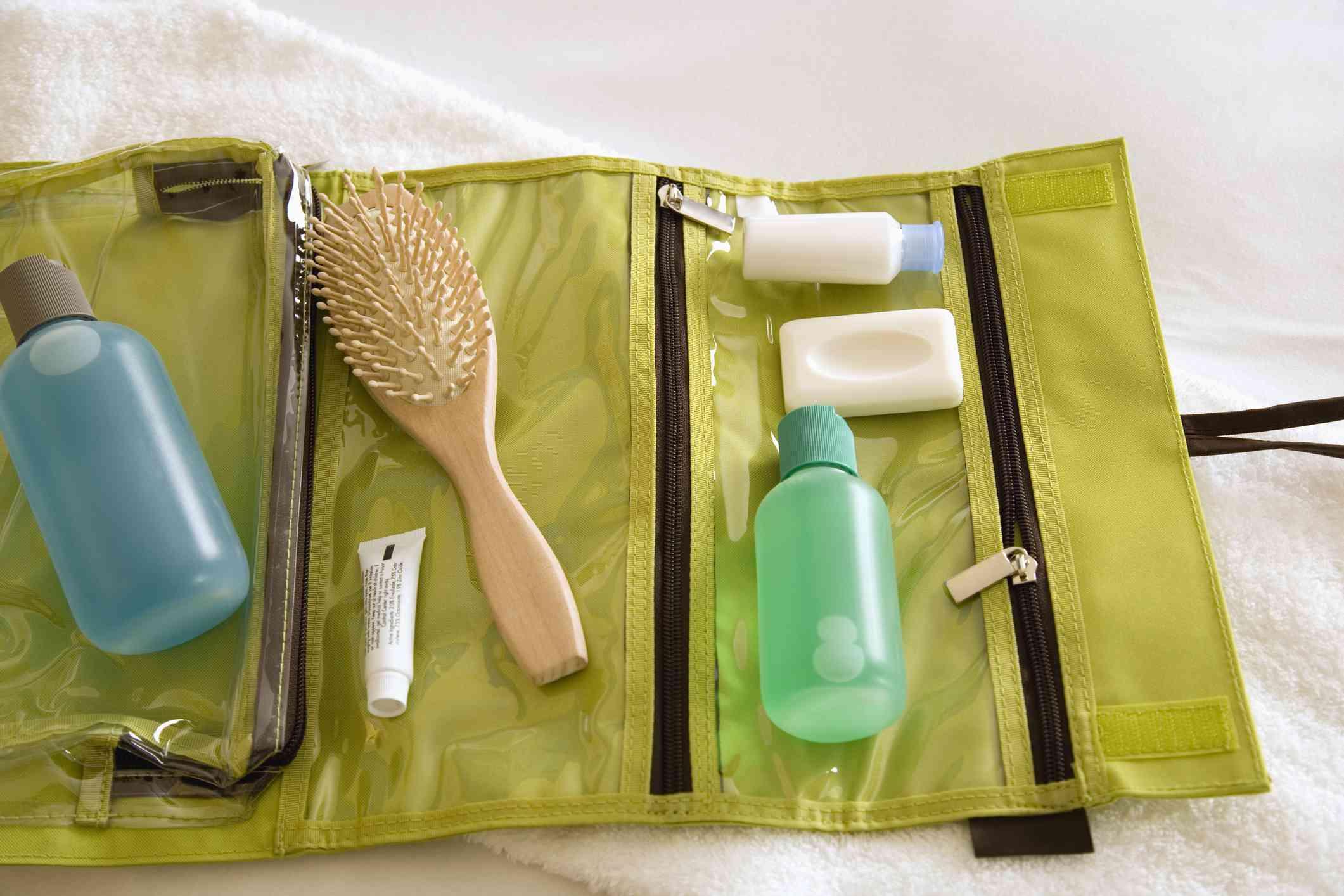 Toiletries and travel kit