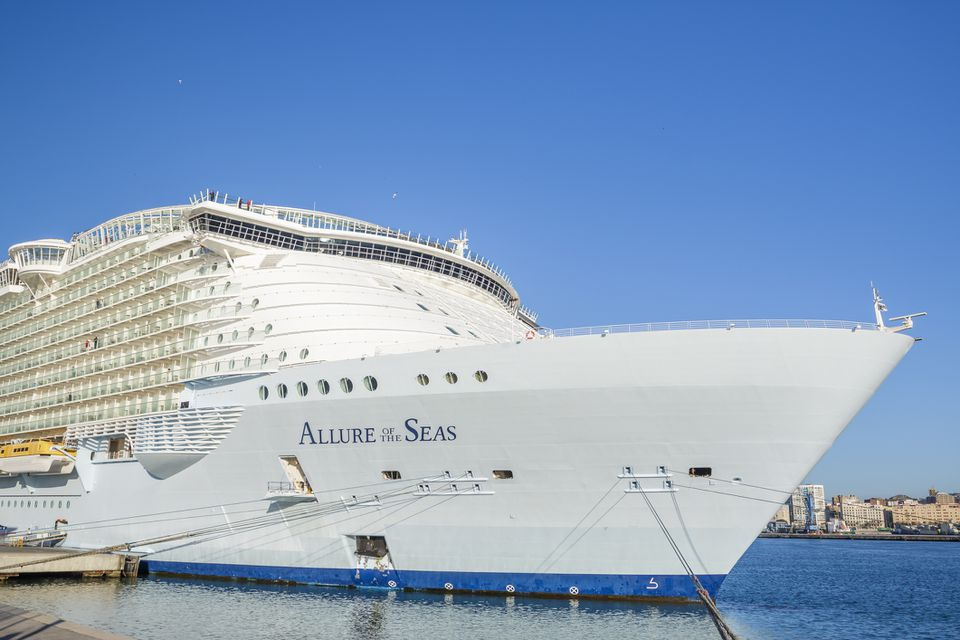 Allure of the Seas at the malaga harbor