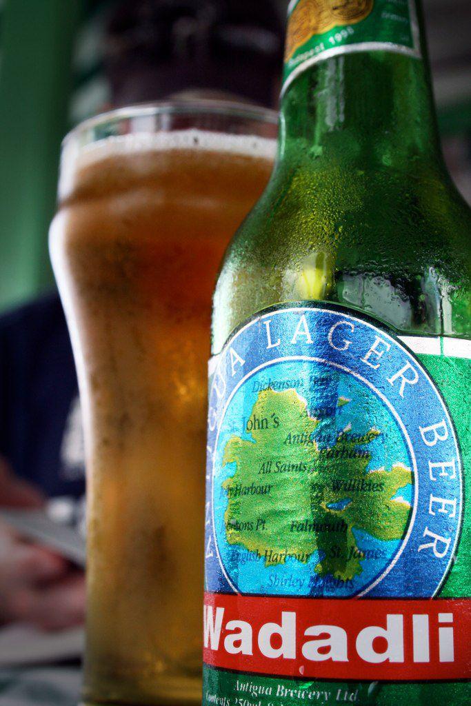 Close up of Wadadli beer