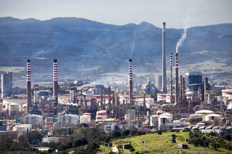 Oil Refinery in Algeciras City in Spain
