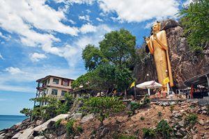 Golden Buddha, Chopsticks Hill (Khao Takiab) Hua Hin, Thailand.