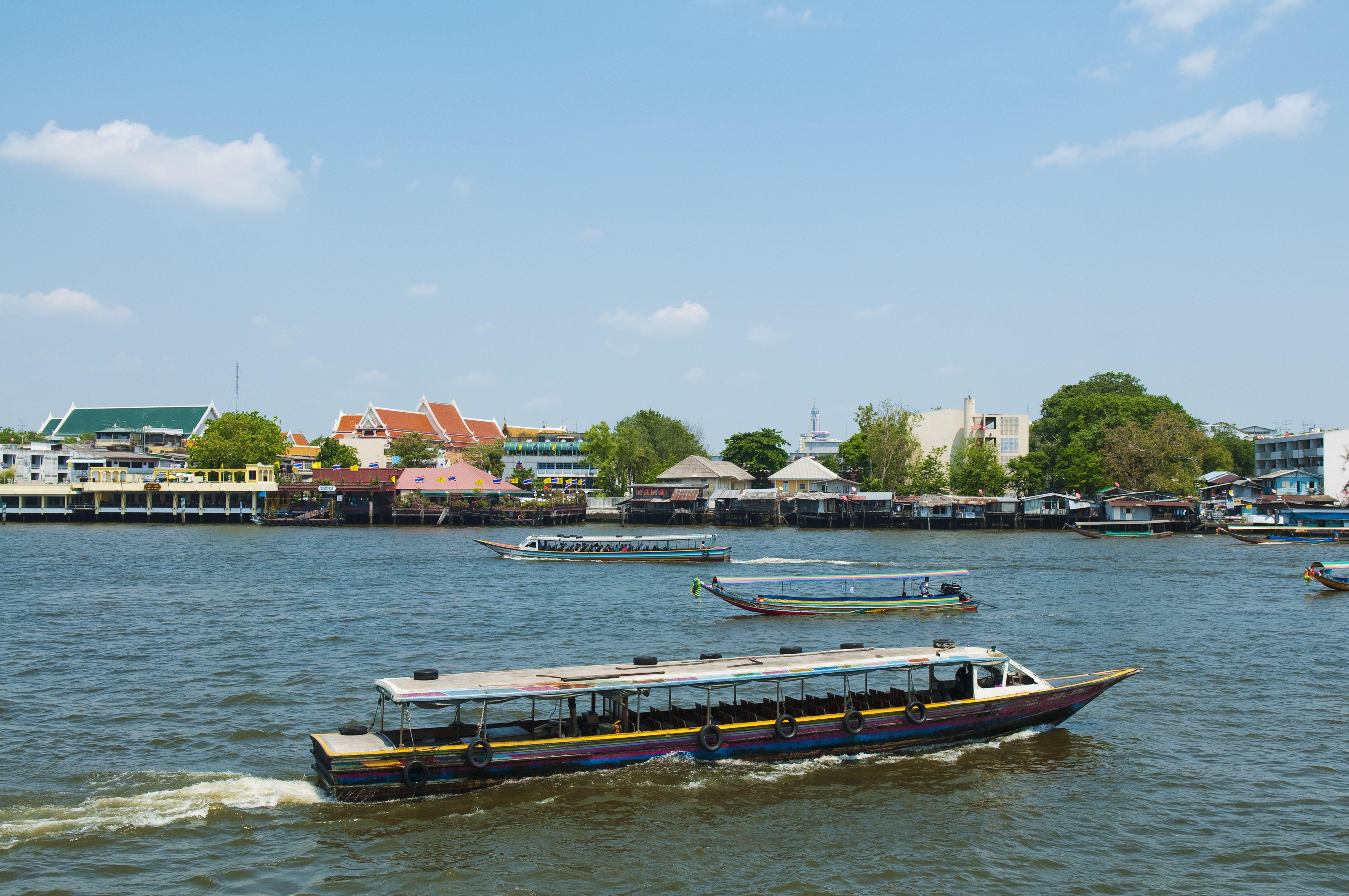 Bangkok river taxi boat