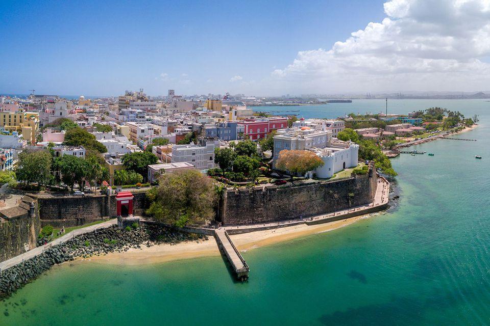 Ciudad vieja de San Juan, Puerto Rico aérea