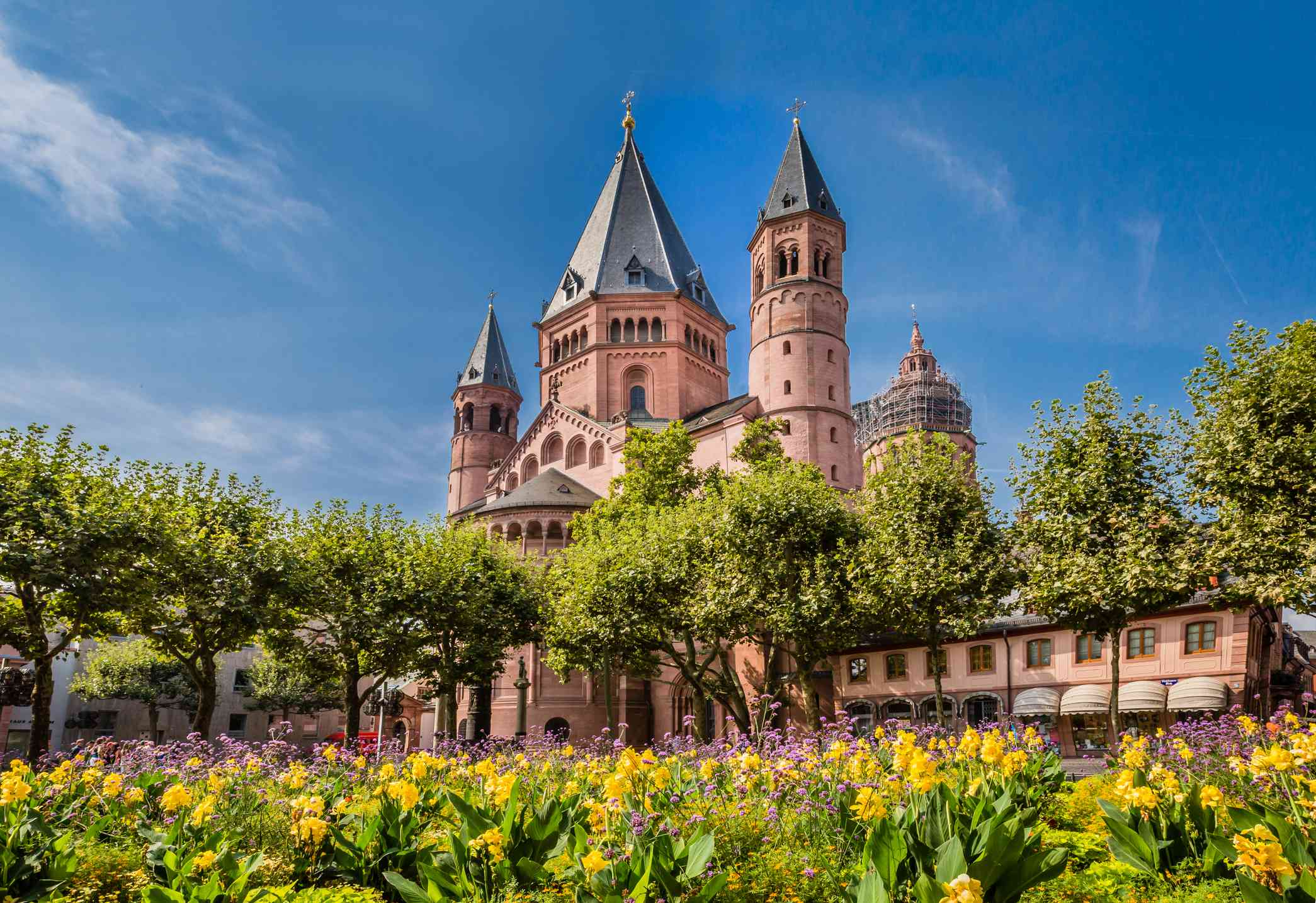 Ancient cathedral in Meinz, Germany