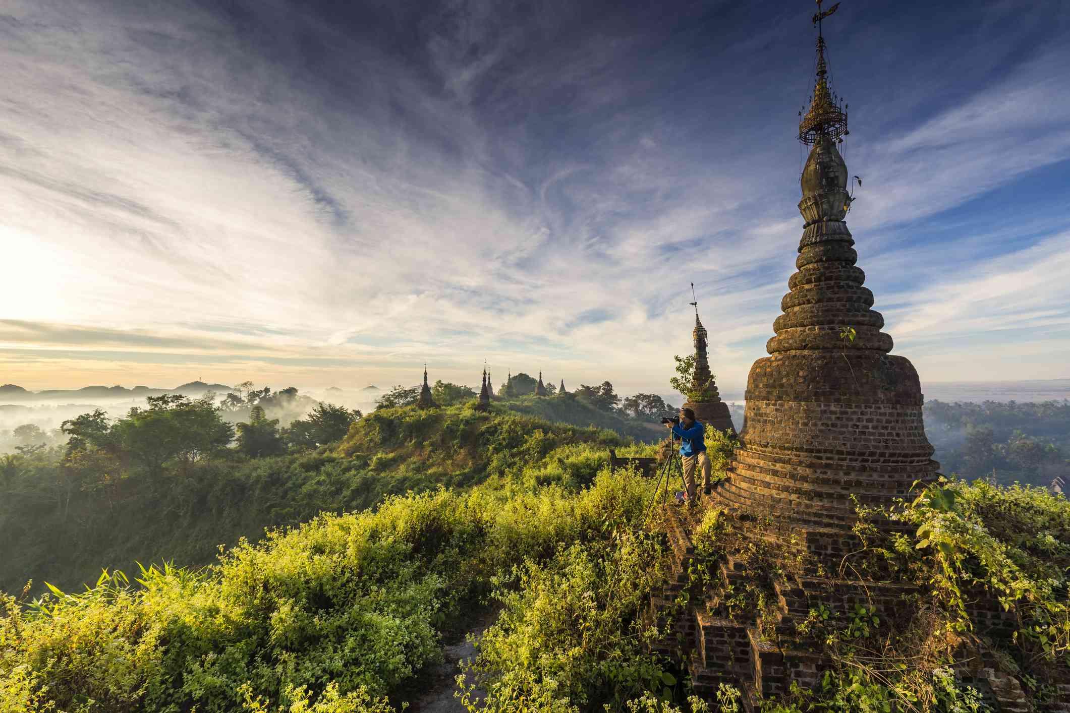 Mrauk U city pagoda.
