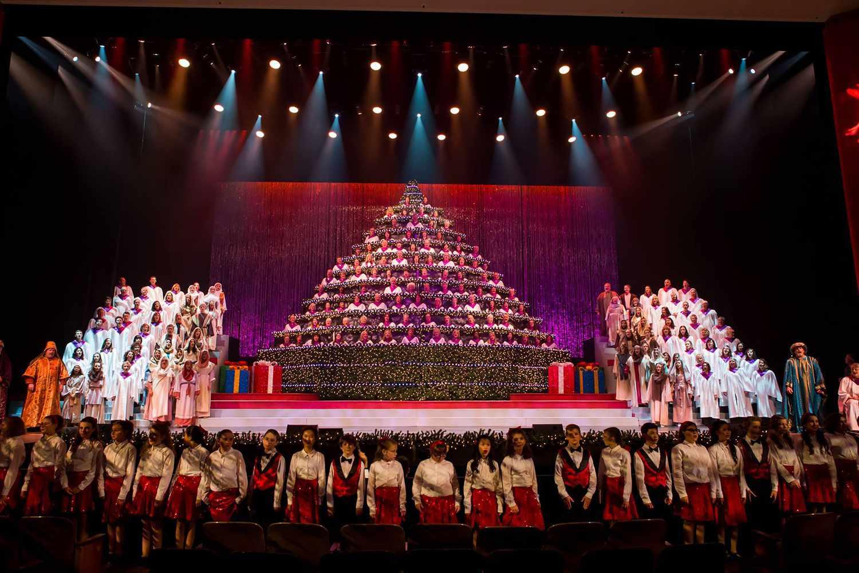 Portland singing christmas tree