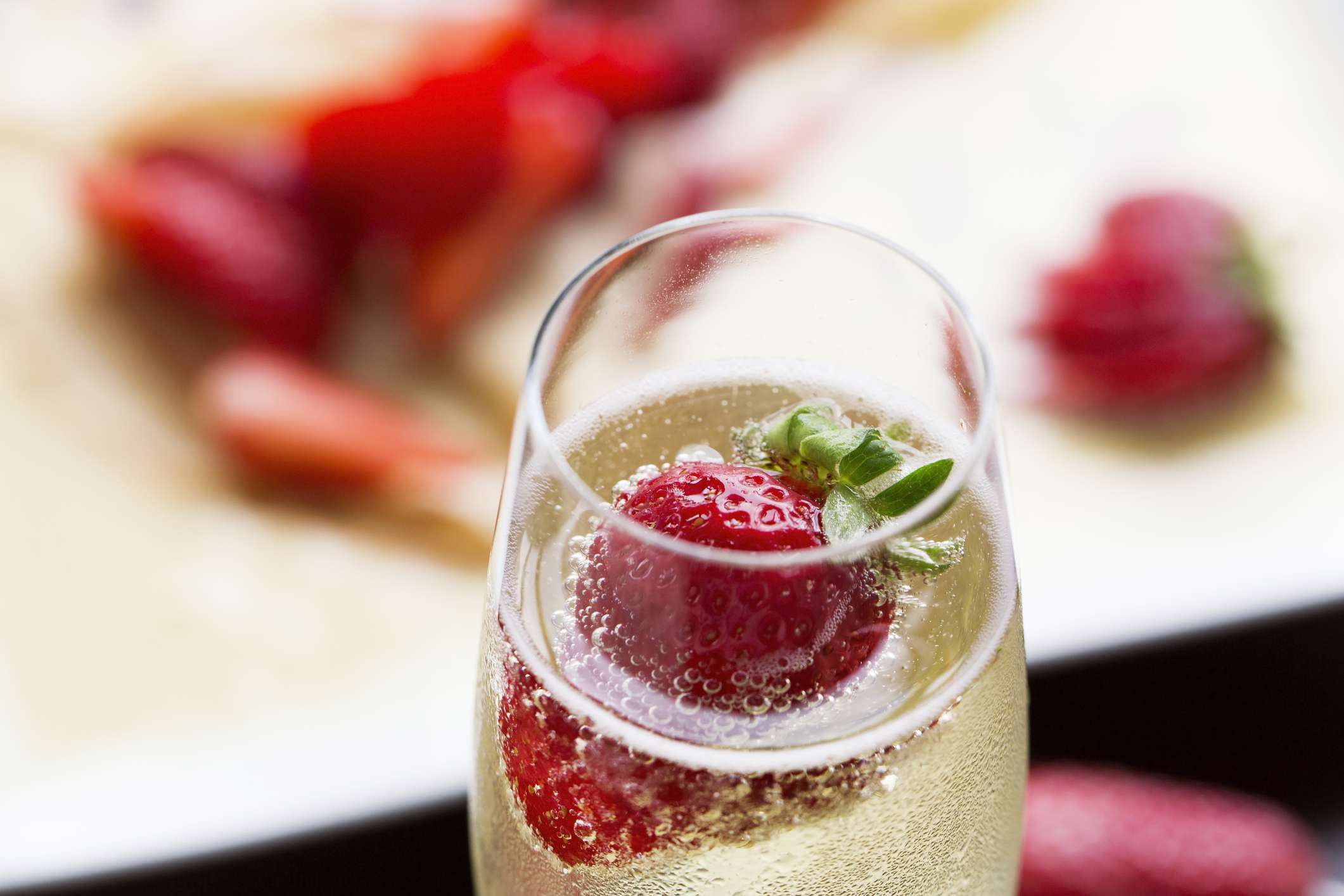 Champagne and strawberries