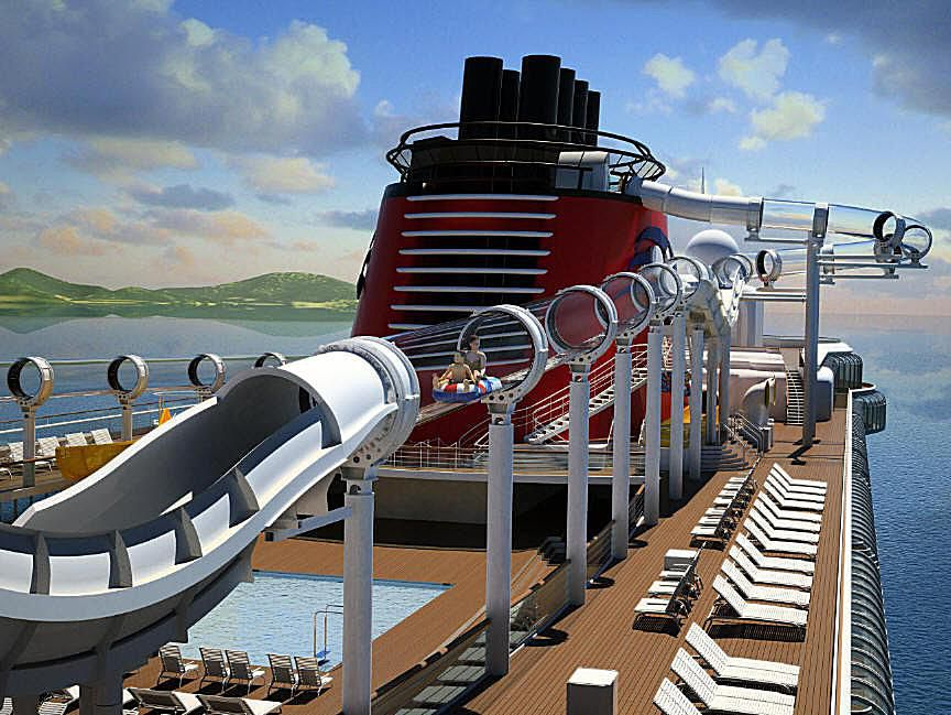 AquaDuck water coaster, on the Disney Dream cruise ship - photo courtesy of Disney Cruise Line.