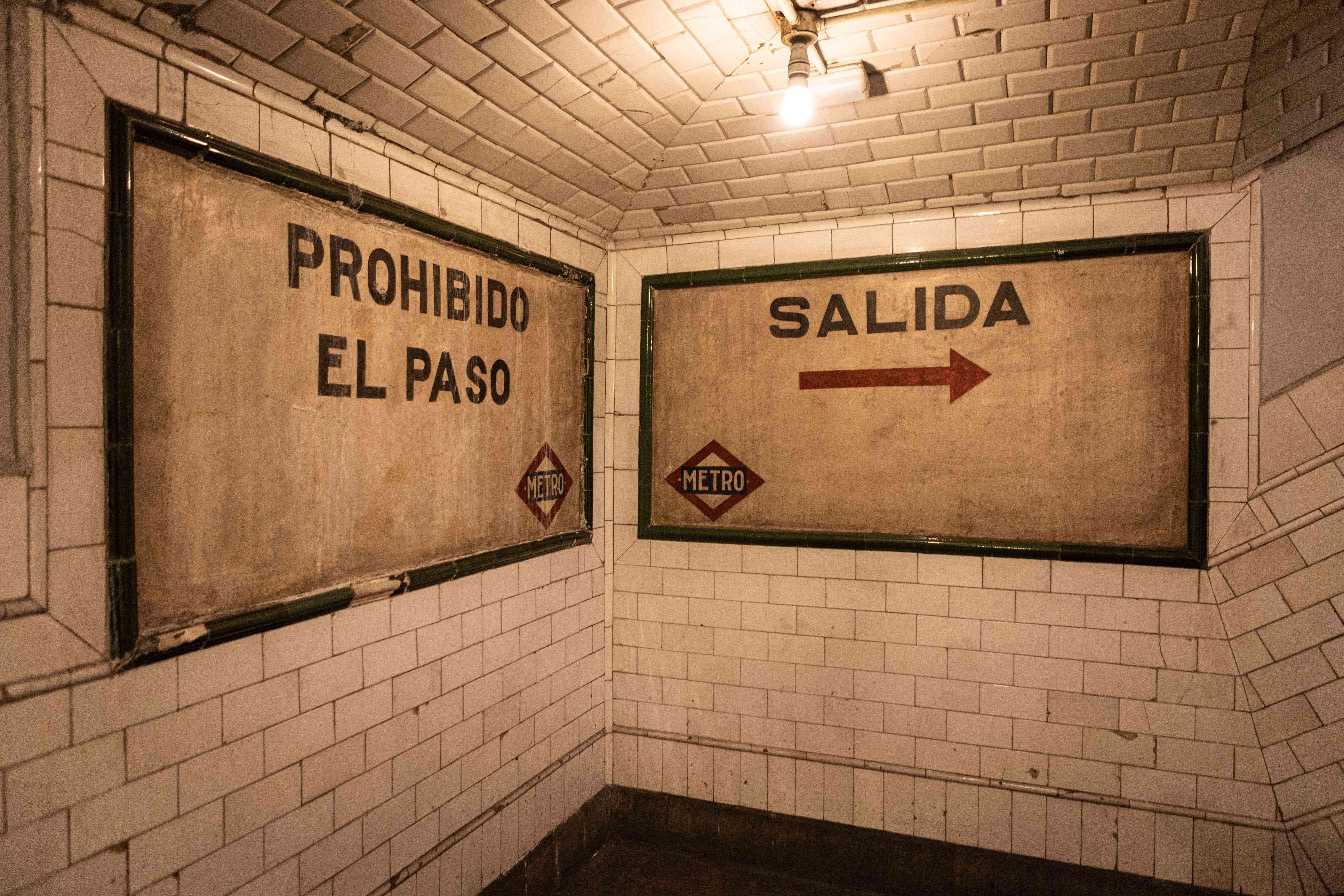 Metro Station Chamberí in Madrid, Spain