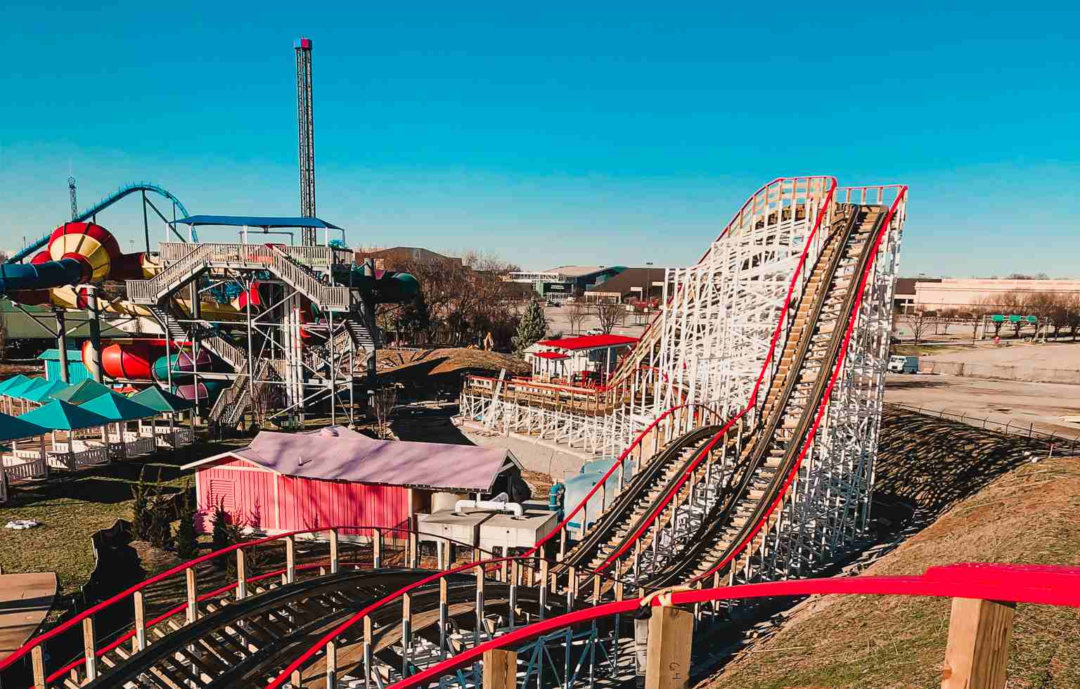 Kentucky Flyer roller coaster at Kentucky Kingdom