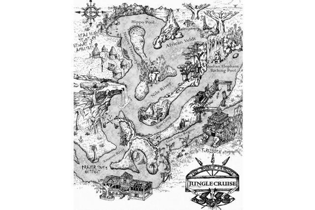 Map of Disneyland's Jungle Cruise