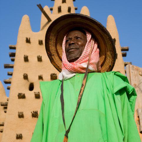 Old Man, Mosque, Mali