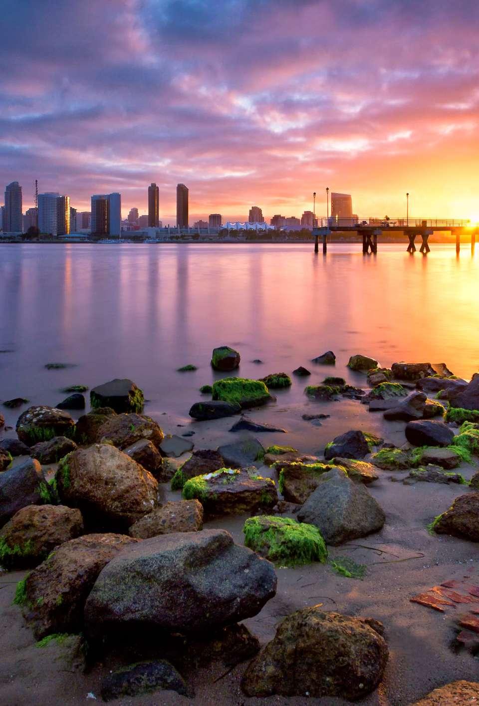 San Diego skyline from waterfront