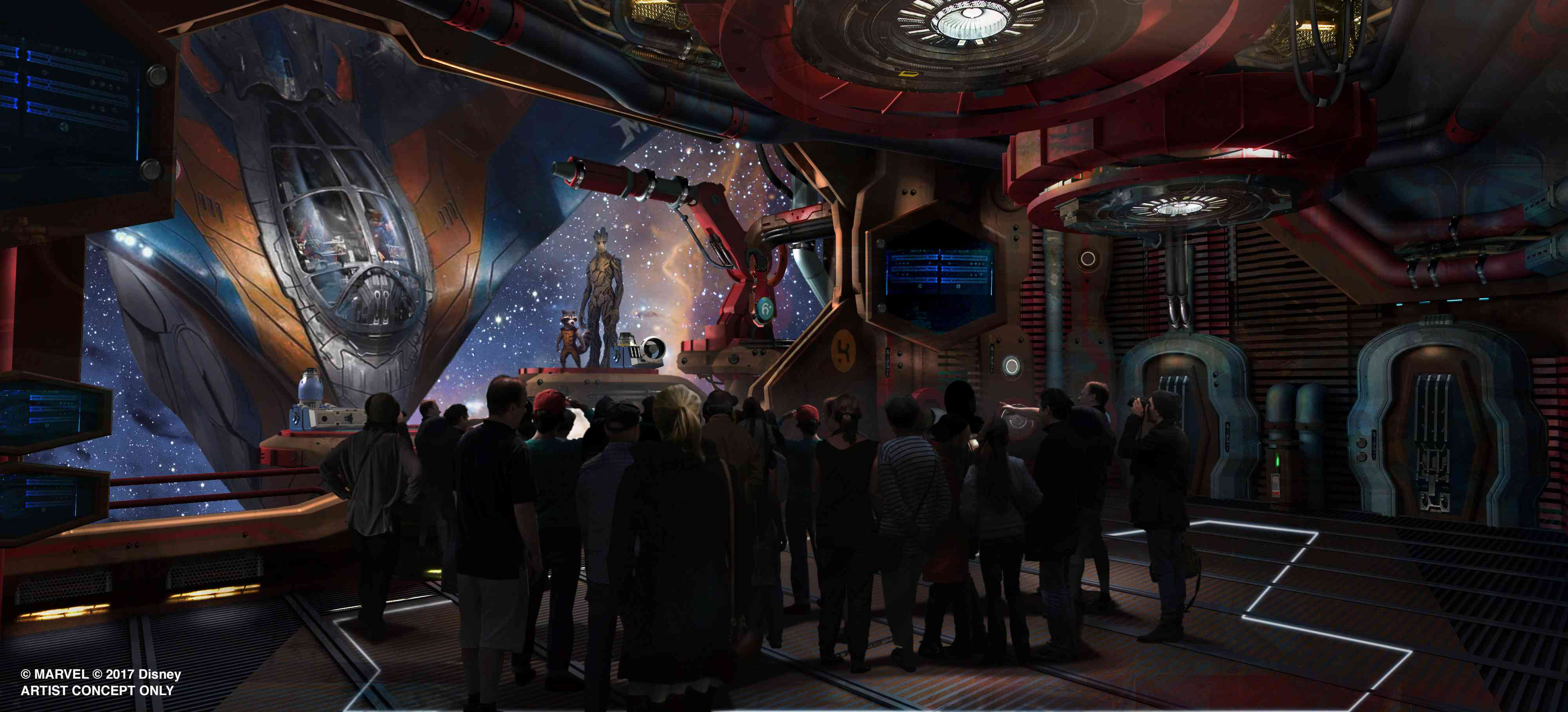 Guardians of the Galaxy: Cosmic Rewind coaster at Epcot